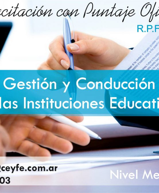 Gestion y Conduccion de las Instituciones Educativas