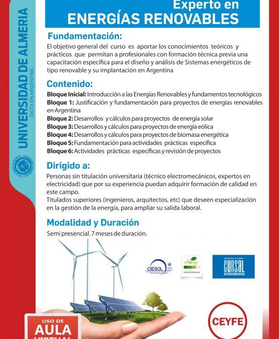 Experto en ENERGIAS RENOVABLES