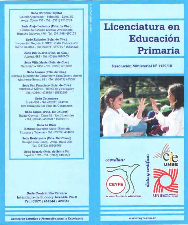 Río Tercero: Inscripción a Licenciaturas