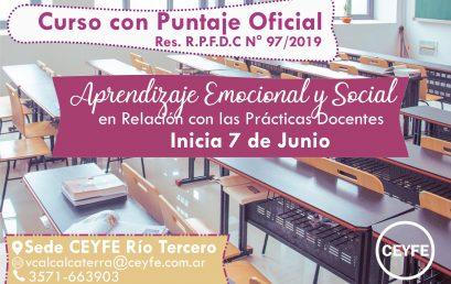 Capacitación intensiva en Aprendizaje Emocional y Social en relación con las prácticas docentes